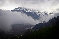 Cloud over the peaks surrounding Lachung, Sikkim (CamelKW) Tags: sikkimindia2018 beechu sikkim india in cloud peak lachung