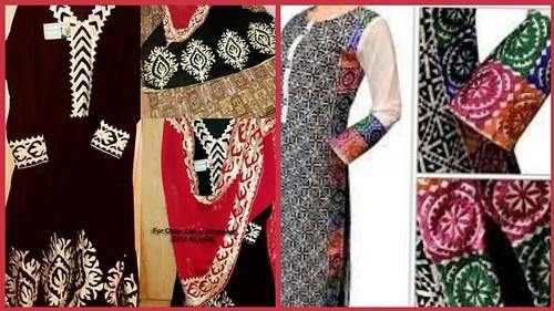 Hand embroidery applique work applique work summer dress designs