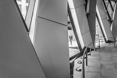 DSC_1661 (deborahb0cch1) Tags: people geometric gerkin lines triangle diagonal diagonallines facade architecture building pattern london city blackandwhite noiretblanc monochrome framing