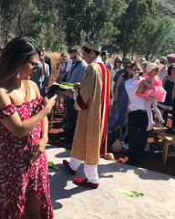 005 The Priest Arrives (saschmitz_earthlink_net) Tags: 2018 california angelesnationalforest losangelescounty sylmar reptacularranch kevinjessicawedding