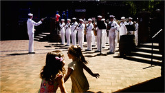 .. (Visavis..) Tags: children dancinggirls fujix100 35mmequiv usa sandiego california urbanlife streetphotography shadows livemusic