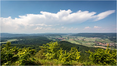 Clouds & Landscape.Explore 29.5.18 (:: Blende 22 ::) Tags: borderbetweenhesseandthuringia centralgermany naturalviewpoint werratal germany canoneos5dmarkiv forest wald clouds cloudy bluesky blau himmel heldrastein lookout ef1740mmf4lusm