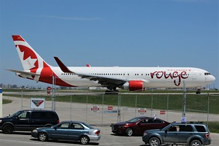 Here is Air Canada Rouge C-FMWV