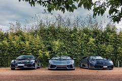 Ferrari VS Lamborghini's (Future Photography International) Tags: andorra spain espagne andorre la vieille road trip friends sueprcar hypercar lamborghini murcielago sv svv super veloce aventador lp700 lp670 4wd ferrari f430 spider v12 v10 v8 porsche 991 turbo s cabriolet hummer h1 mini gp works copper bmw m3 audi rs4 b7