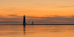 Grand Haven Lights (mjhedge) Tags: grandhaven lakemichigan lighthouse michigan orange sony a7riii 24105 fe24105f4 puremichigan sunset water