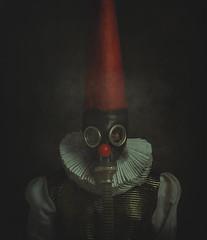 Clown. (jcalveraphotography) Tags: selfportrait selfie serie studio surrealism portrait photo photographer projects people picture person creative clown red recreated 365 explore 365days