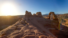 Final Destination (Hiking to the Delicate Arch) (KC Mike Day) Tags: arch delicate southwest utah park national sandstone hiking hike sunrise rock
