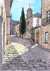 Cuesta de San Felipe. (P.Barahona) Tags: calle arquitectura edificios ciprés torre balcón