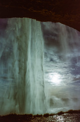 Behind the Waterfall (hiphopmilk) Tags: copyright©jaredyehwooehmoehfilms nikonfm2n nikonfm2 nikon fm2 35mm 135film film analog analogue kodak nikkor hiphopmilk north europe nordic iceland waterfall seljalandsfoss suðurland þórsmörk þórsmerkurvegur
