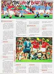 Manchester United Magazine - December 1994 - Page 40 (The Sky Strikers) Tags: manchester united magazine december 1994 the official volume 2 number 12 one pound ninety five