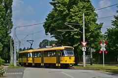 Tatra T4D-MT #224_218 DVB Dresden Drezno (3x105Na) Tags: tatra t4dmt 224218 dvb dresden drezno deutschland niemcy germany sachsen saksonia strassenbahn strasenbahn tram tramwaj