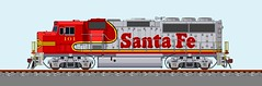 AT&SF 100 (thoroughbred1001) Tags: trains emd gp60m atsf santafe
