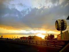 Sunset Boulevard (brisa estelar) Tags: sunset golden clouds road cdmx mexico blue
