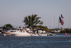 D18010E7 - 2017 4th of July Raft Up on the Delta (Bob f1.4) Tags: boats cruisers ski dingys outboard motor sailboats sail raft out anchored sacramento delta water island trees flag 4th july waiting for fireworks manderville tip san juaquine river