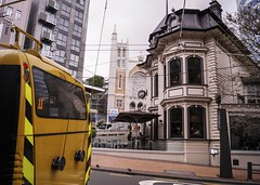 Willis Street (andrewsurgenor) Tags: transit transport publictransport nzbus gowellington electric trackless trolleybus trolleybuses wellington nz streetscenes bus buses omnibus yellow obus busse citytransport city urban newzealand