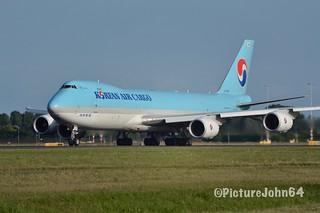 KE509 Korean Air Cargo Boeing 747-8F (HL7629) departing from Schiphol Amsterdam to Stockholm Arlanda