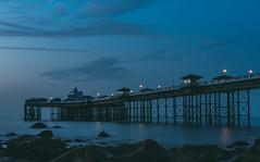 In this moment I am happy.. (Emma Yeardley) Tags: blueweek colourfusion trueblue blue pier llandudno wales welshcoast seaside beach sea ocean twilight lights nikon 40mm d7500 le longexposure slowshutter seascape llandudnopier incubuslyrics