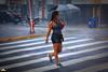 Lonely girl under a hard rain (Otacílio Rodrigues) Tags: faixadepedestre crosswalk garota girl chuva rain sombrinha umbrella urban streetphoto candid travessia crossing esquina corner resende brasil oro