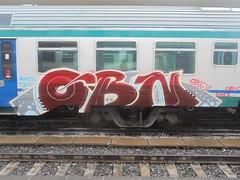 1034 (en-ri) Tags: obn speo fine tacs obns 2018 bianco rosso grigio train torino graffiti writing