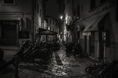 Back streets..... (Dafydd Penguin) Tags: night shots after dark blackwhite blackandwhite black white mono monochrome bw urban raw elba island portoferraio tuscany italy leica m10 summicron 35mm f2 asph