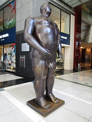 Tall Gent Man Sculpture by Botero 2018 NYC 3768 (Brechtbug) Tags: man sculpture by fernando botero colombian artist metal bronze nude male art sculptures front glassed lobby time warner building columbus circle nyc thinker thinking wings nudes architecture statues statue gargoyle gargoyles new york city broadway store shopping center mall heavy zaftig puffy hefty big boned sturdy tall gent gentleman