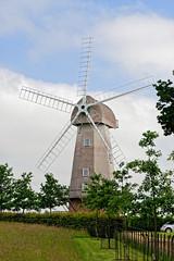 Windmill (Geoff Henson) Tags: windmill sails tower trees sky clouds grass drive