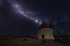 VL Molino Genoveses (Juanjoleal) Tags: vialactea milkyway molino genoveses nocturna stars estrellas windmill almeria cabo de gata