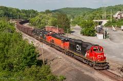 Bessemer in Butler (Dan A. Davis) Tags: cn ble ic canadiannational illinoiscentral bessemerlakeerie sd60 sd40t3 sd70 sd402w ore freighttrain railroad locomotive train pa pennsylvania butler