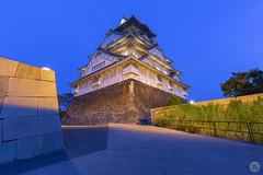 Osaka-jo [JP] (ta92310) Tags: travel asia spring 2018 osaka castle jo chateau longexposure bluehour architecture honshu kansai japon japan