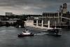 Leaving Port (Safdave) Tags: portland willametteriver tugboat ship bulk shaver dock