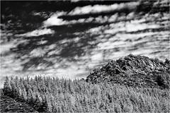 Structures of Nature... (Ody on the mount) Tags: ardèche bäume em5ii felsen frankreich hügel landschaft omd olympus pflanzen urlaub wald wolken bw hill landscape monochrome rocks sw trees woods jaujac auvergnerhônealpes fr