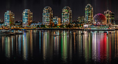 View From Cambie Street Bridge (justenoughfocus) Tags: britishcolumbia sonyalpha canada cityscape night nightphotography urban vancouver locations ca