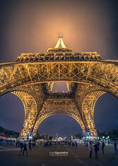 Paris_Tour_Eiffel_20161025_0273-Pano (ivan.sgualdini) Tags: night canon city eiffel france francia lights luci monumento monumnt notte parigi paris tour tower