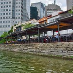 Restaurants by the river at Boat Quay in Singapore thumbnail