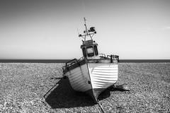 Bow's End (Best Snaps) Tags: dungeness coast sunny love blackandwhite fishingboat canon photograph photographer shingle beach kent