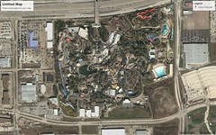 Astroworld - 2004 (RS 1990) Tags: astroworld themepark sixflags houston texas usa northamerica tx amusement park site googleearth googlemaps pastandpresent beforeandafter thenandnow