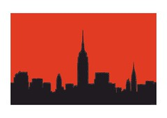Red Sky (Norbert Cieslik ) Tags: ny big apple new york manhattan skyline newyork nyc red black