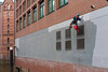 (Nikos Tsitsel) Tags: paint redwall work laborer spiderman streetphotography sonyalpha7ii hamburg speicherstadt river buildings arbeit painter hanging tsitsel 35mm