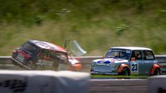 Thruxton Mini Miglia Crash (jdl1963) Tags: thruxton 50th anniversary mini miglia crash accident motor sport racing motorsport