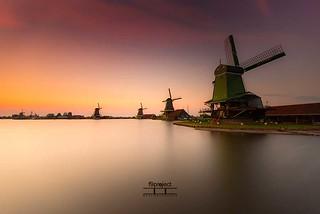 golden hours at the Zaanse Schans.........