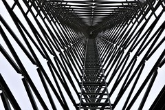 Tower 7 (nocturnal.visions) Tags: abandonments australia television tower explore exploring abandoned structure black and white monochrome photography pov photos canon 70d symmetry triangles abstract