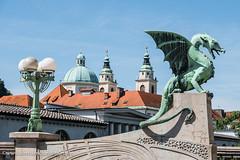 Dragon Bridge (Zmajski Most) (www.chriskench.photography) Tags: dragons xt2 ljubljana 18135 history cityscape kenchie europe travel slovenia si ifeelslovenia