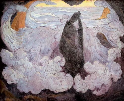 IMG_9069 Georges Lacombe. 1868-1916. La vague violette. The purple wave. 1896 Paris Orsay.