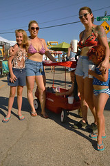 Geared up for summer (radargeek) Tags: paseoartsfestival paseodistrict okc oklahomacity 2018 may festival sunglasses wagon family sandals swimwear tattoo octopus tiger kid child children
