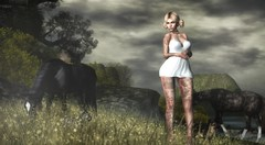 love me back to life... (Posh Jones-Rey) Tags: poshjonesrey artificialmode secondlife chicmoda fameshed asteroidbox truthhair truth horses nature relax real freshair oxygen summer