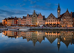 Gent - old town (Hobbybilder) Tags: gent panorama night nice
