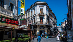 2018 - Romania - Bucharest - Strada Lipscani (Ted's photos - For Me & You) Tags: 2018 bucharest nikon nikond750 nikonfx romania tedmcgrath tedsphotos vignetting lipscani streetscene street people peopleandpaths centruvechi centruvechibucharest bucharestcentruvechi oldtown oldtownbucharest bucharestoldtown buildings subway red redrule