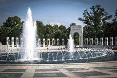 World War II Memorial, Washington DC, USA (KSAG Photography) Tags: nikon washington memorial dday fountain water city capital america unitedstatesofamerica usa history heritage monument 2014 july