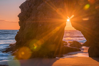 Malibu California Ocean & Beach Sea Cave Sunset! Beautiful Vista Views! Epic Malibu Long Exposure Fine Art Landscape Seascape HDR Photography! Elliot McGucken Scenic Fine Art Photos!  Nikon D810 & Nikon AF-S NIKKOR 28-300mm f/3.5-5.6G ED VR Lens Zoom!