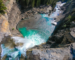 Above Crescent Falls (jchowaniec) Tags: waterfall waterfalls aerial nature landscapes places alberta canada crescentfalls drone karmadrone gopro